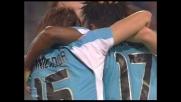 Manfredini trafigge Storari e sigla il goal del vantaggio per la Lazio