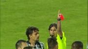 Rosso per Terlizzi contro il Milan per fallo su Pazzini