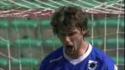 Huseklepp interviene in ritardo su Poli: rigore per la Sampdoria a Bari