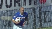 Maccarone dagli 11 metri segna il goal del 2 a 3 tra Sampdoria e Cesena
