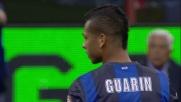 Magnifico tiro di Guarin fuori di pochi centimetri in Inter-Lazio