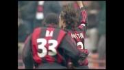 Maldini calcia al volo, goal del Milan contro il Parma