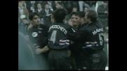 Mancini, colpo di testa perfetto per il goal della Sampdoria