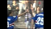 Mancini in pallonetto, gran goal della Sampdoria