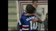 Mancini incrocia il sinistro al volo, gran goal della Sampdoria