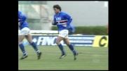 Mancini pennella su punizione, gran goal della Sampdoria