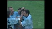 Mancini stacca di testa, goal della Lazio