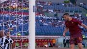 Manolas di testa fallisce un goal facile contro l'Udinese