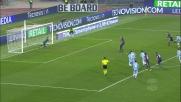 Marchetti si tuffa e para il calcio di rigore di Ilicic, niente goal
