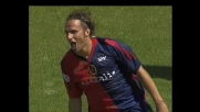 Marchini inizia l'azione e poi segna sottoporta, Cagliari-Roma 2-1