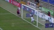Marco Rossi finalizza in goal una splendida azione del Genoa