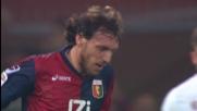 Marco Rossi sbaglia un rigore in movimento contro l'Inter