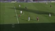 Marco Sau approfitta degli errori del Milan e porta in vantaggio il Cagliari