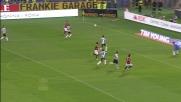 Marquinho segna il terzo goal della Roma sull'Udinese