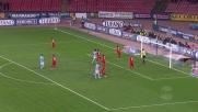 Mascara di testa, il palo risparmia al Cagliari il goal del Napoli