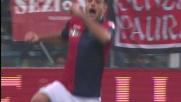 Matri realizza il goal vittoria del Genoa a Cesena