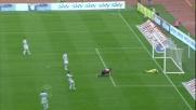 Matri segna di testa il goal della bandiera per il Cagliari all'Olimpico di Roma
