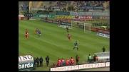 Mauri in scivolata segna il 2-0 contro l'Ancona