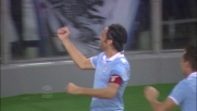 Mauri non lascia scampo a Goicoechea e segna il terzo goal per la Lazio