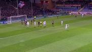 Mauri svetta di testa ma colpisce la traversa contro il Genoa