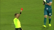 Mauricio espulso per fallo da ultimo uomo contro l'Inter