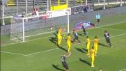 Maxi Moralez porta in vantaggio l'Atalanta con un colpo di testa