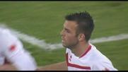 Meggiorini punisce la difesa della Sampdoria e realizza il goal del pareggio per il Bari