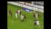 Melara segna di testa il goal per i pareggio del Livorno al Sant'Elia di Cagliari