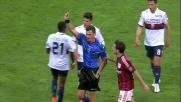 Menez commette fallo su Edenilson e viene espulso: Milan in 10 uomini contro il Genoa