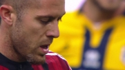 Menez non sbaglia dagli 11 metri e segna il goal dell'1 a 0 rossonero contro il Parma