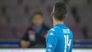 Mertens accarezza la porta, destro fuori di un soffio contro la Lazio!