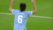 Mauri di testa segna il goal del momentaneo pareggio allo Juventus Stadium