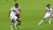 Miccoli contro il Milan non trova la porta con un destro fulmineo