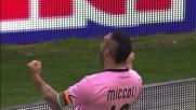 Miccoli elude il fuorigioco e il suo goal fa esultare Palermo
