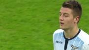 Milinkovic-Savic allontana il pallone e rimedia doppio giallo ed espulsione