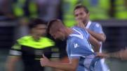 Milinkovic-Savic incorna in rete l'1-0 della Lazio sul Pescara