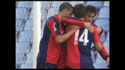 Milito calcia il rigore in sicurezza e pareggia per il Genoa: battuto Handanovic