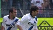 Milito segna il goal del momentaneo pareggio contro il Cagliari