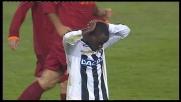 Missile di Asamoah, palla alta e goal sfiorato con la Roma