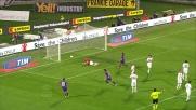 Montolivo segna il goal del 2 a 2 tra Fiorentina e Novara