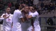 Moras colpisce di testa e segna il goal dell'1 a 0 in casa del Sassuolo