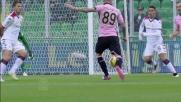 Morganella va in goal con un tiro deviato contro il Cagliari