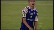 Morrone prova il colpo a sorpresa ma la traversa gli nega la gioia del goal