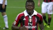 Muntari segna in contropiede il goal del vantaggio del Milan