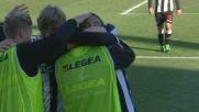 Muriel incrocia con il destro e segna ad Handanovic