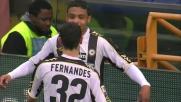 Muriel punisce il Genoa da calcio di rigore e segna il 3-1 per l'Udinese