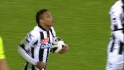 Muriel segna il goal della bandiera per l'Udinese al Massimino