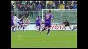 Mutu calcia un bolide d'esterno imprendibile per Scarpi: secondo goal della Fiorentina contro il Genoa