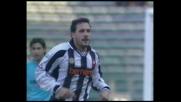Muzzi a rimorchio segna il goal dell'1-1 tra Lazio e Udinese
