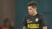 Iturbe da calcio di punizione realizza il goal della bandiera dell'Hellas Verona